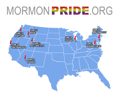 Mormon Pride Map