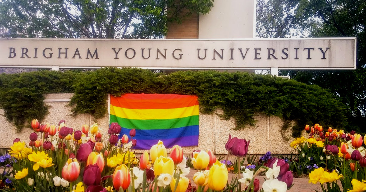 Brigham Young University BYU Rainbow Pride Flag